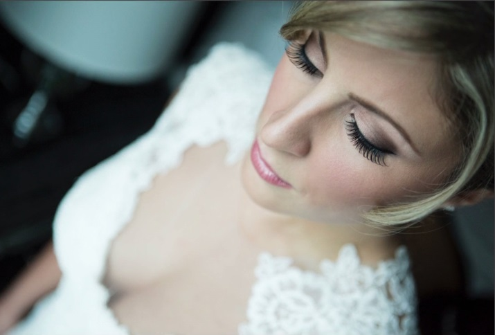 wedding makeup with false lashes