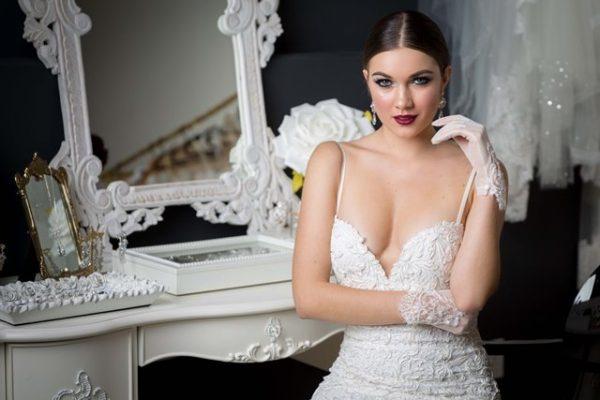 bride with a dark lip