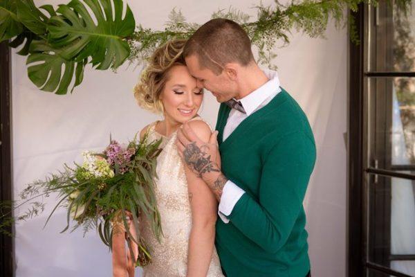 green themed wedding