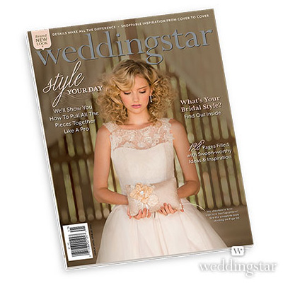 wedding star magazine with blonde bride