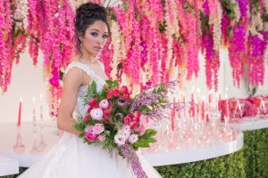 pink inspired wedding